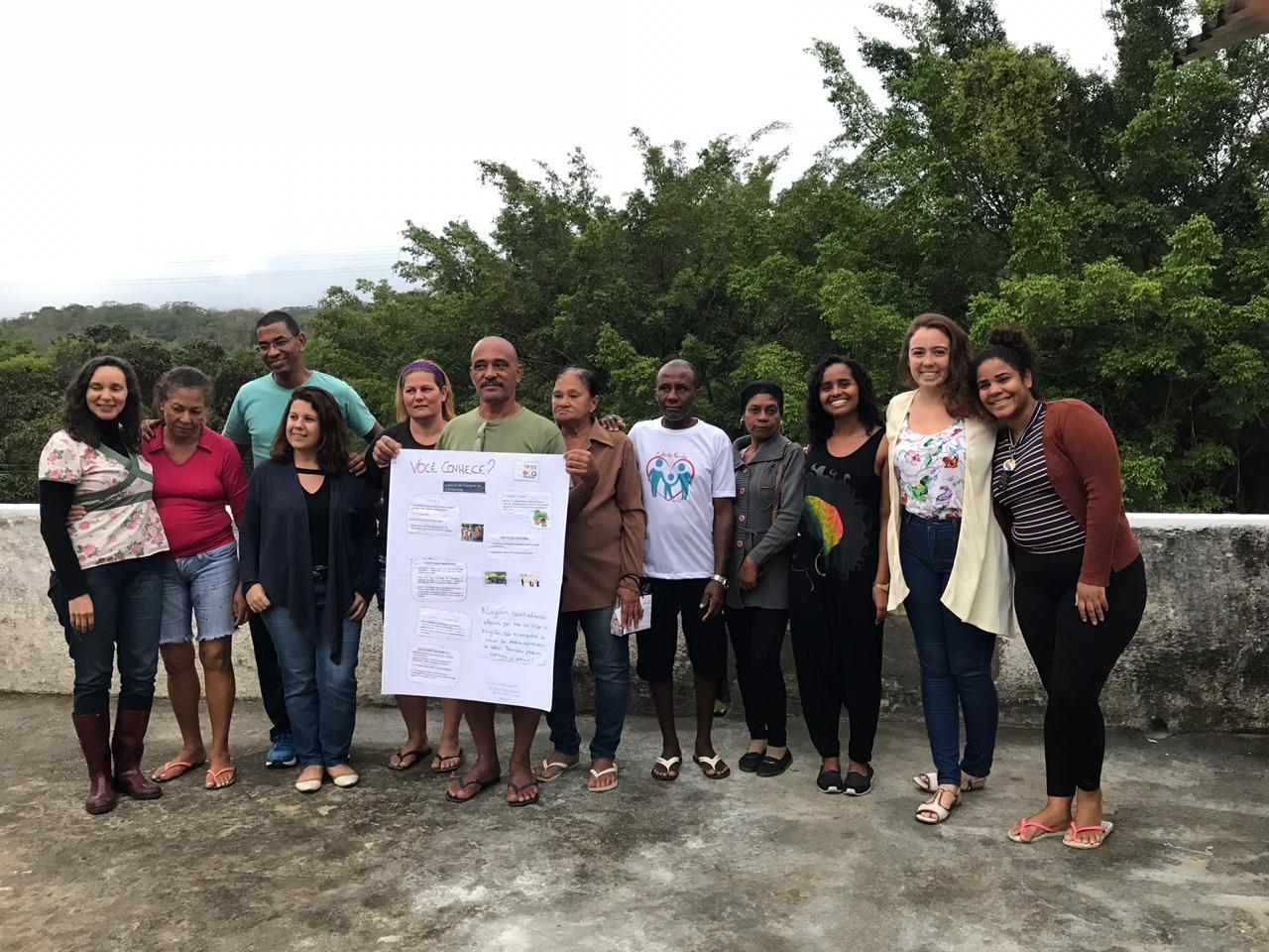Oficina sobre o ECA na comunidade da Fazendinha - Sapê