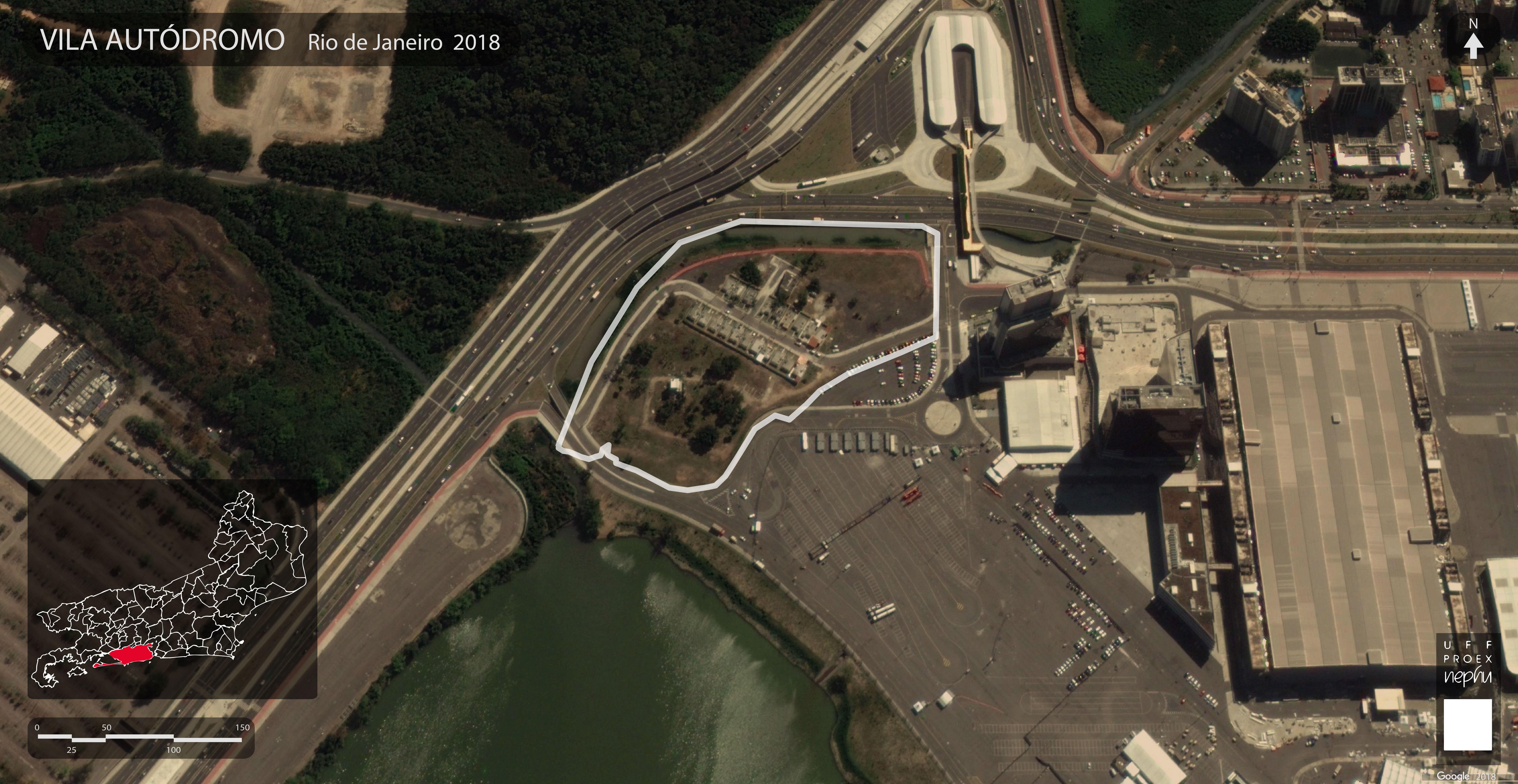 Mapa de Delimitação da Vila Autódromo