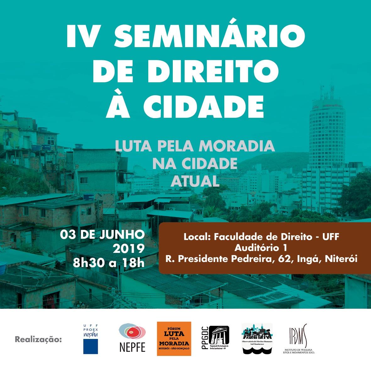 IV Seminário de Direito à Cidade - UFF